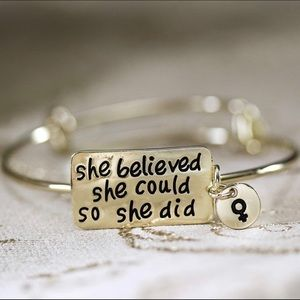 Jewelry - Stainless Steel Motivational Bracelet